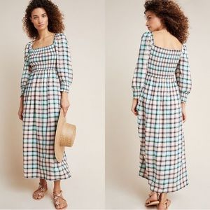 Maeve Anthropologie | Cerie Smocked Midi Dress